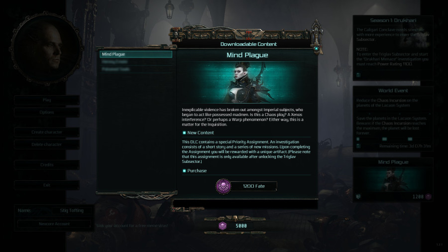 Inquisitor - Martyr: New DLC & In-game Store - Community