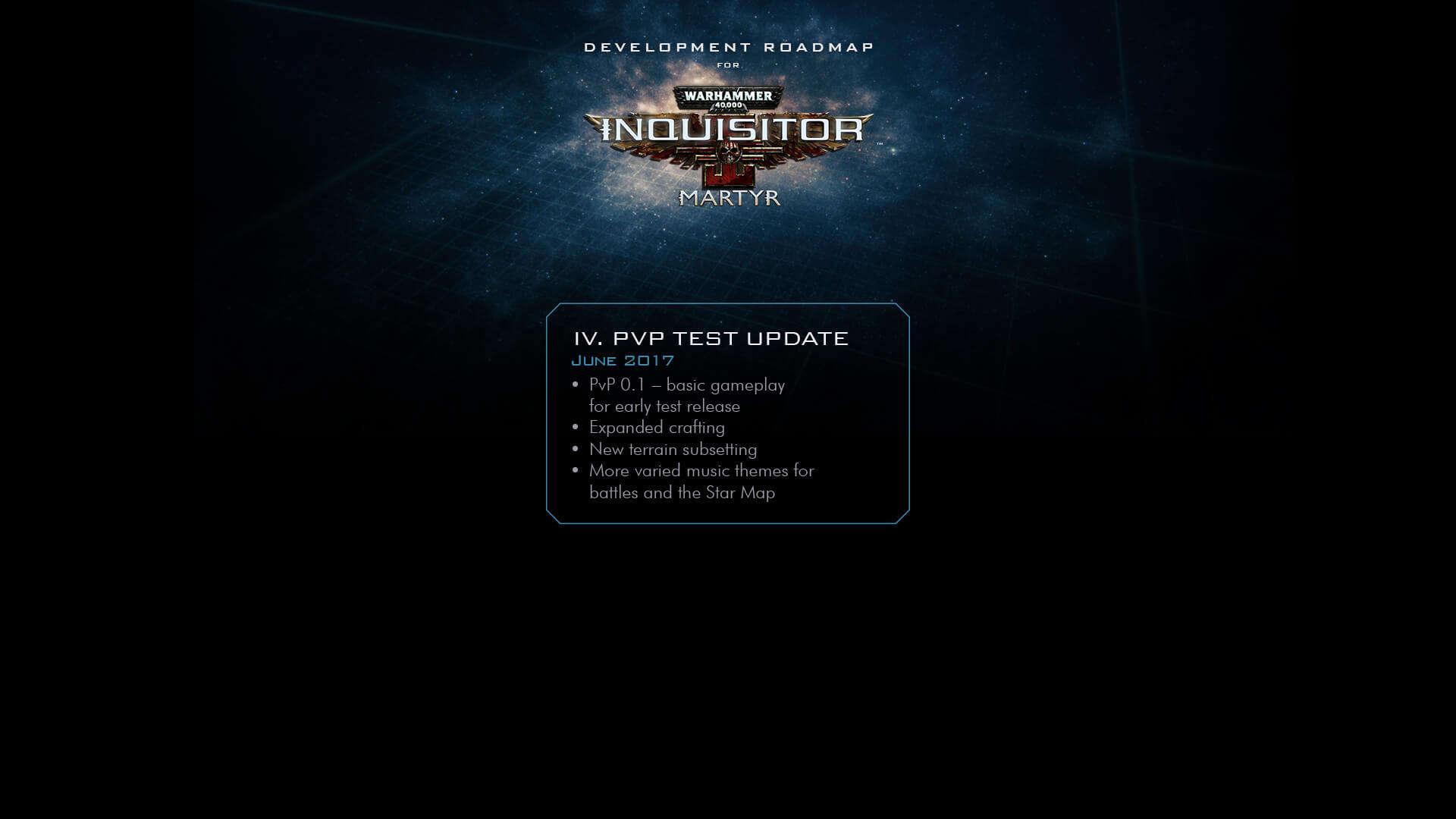 Inquisitor - Martyr New Roadmap - Community - NeocoreGames